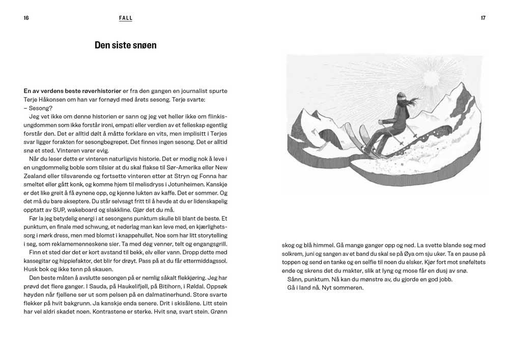 Siste tur - Historier om spor i pudder som skal snø igjen - oppslag 7