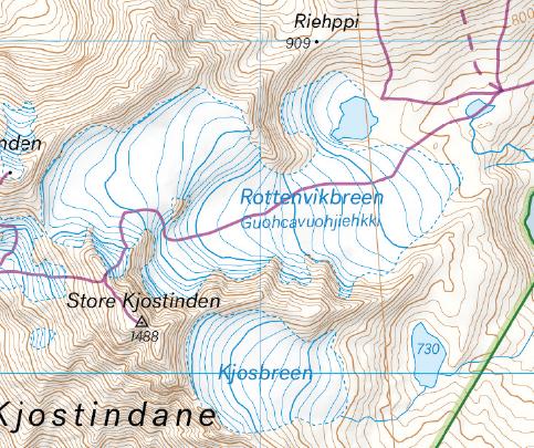 Kart Lyngsalpene utsnitt