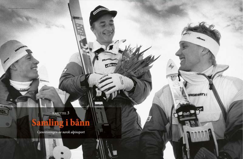 Kjetil Andre Aamodt. Bildet fra alpinboken født med slalåmski på beina.