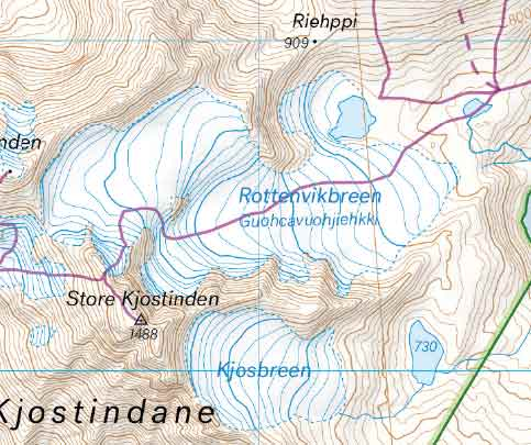 Eksempel fra kart