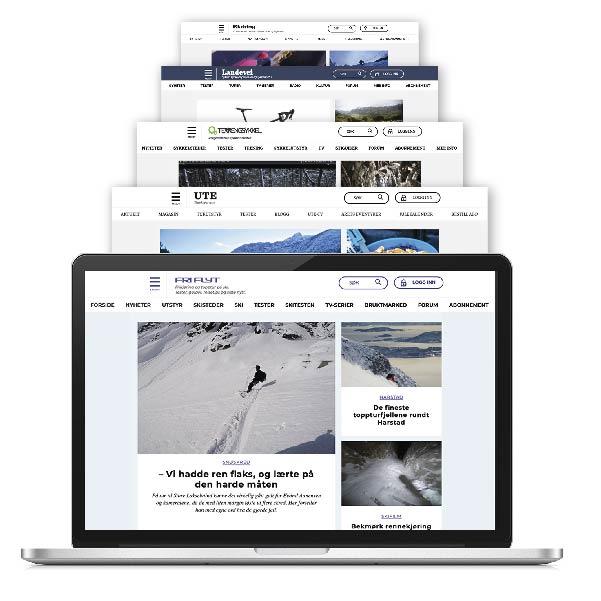 Digitalt abonnement som inkluderer alt innhold fra Fri Flyt, Terrengsykkel, Landevei, Klatring og UTE