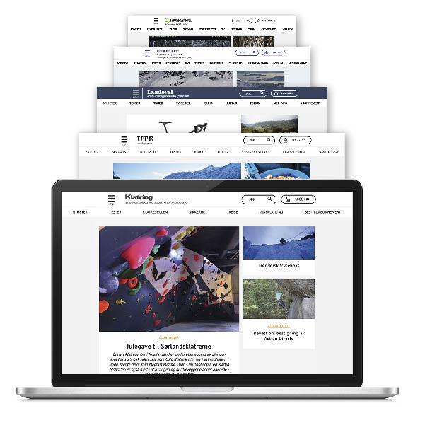 Digitalt abonnement Klatring alt inkludert