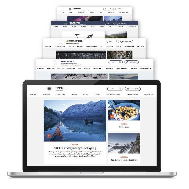 Digitalt abonnement som inkluderer alt innhold fra UTE, Fri Flyt, Terrengsykkel, Landevei og Klatring