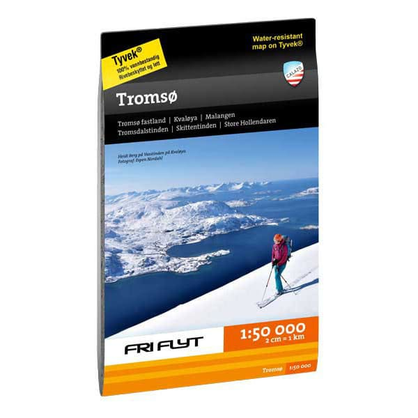 Troms og omegn tur- og toppturkart 1:50.000