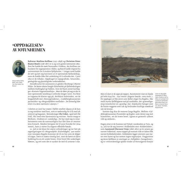 Oppdagelsen av Jotunheimen - oppslag fra boken Høyde over havet