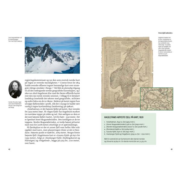 Kartoppslag fra boken Høyde over havet, skrevet av Sveinung Engeland