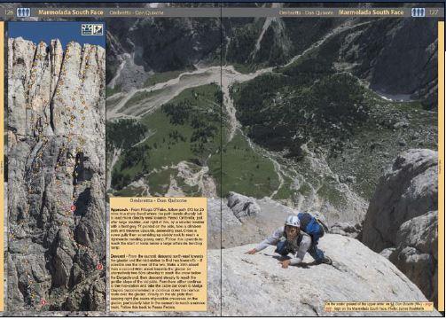 Klatrefører Dolomites - Rock Climbs and Via Ferrata - Oppslag 1