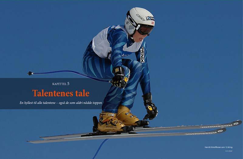 Henrik Kristoffersen som 12-åring. Bildet fra alpinboken Født med slalåmski på beina
