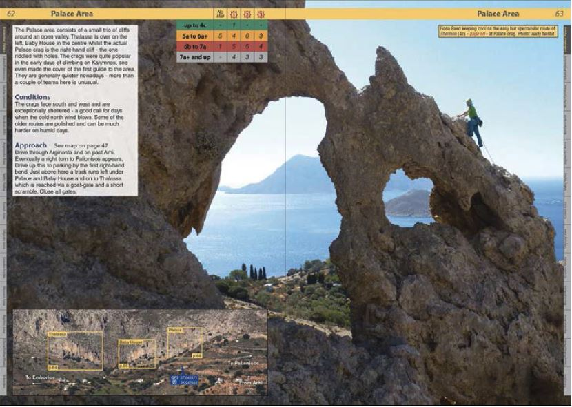 Klatrefører Kalymnos - Oppslag 1