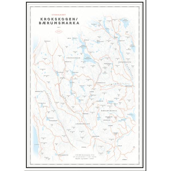 Kart Krokskogen og Bærumsmarka