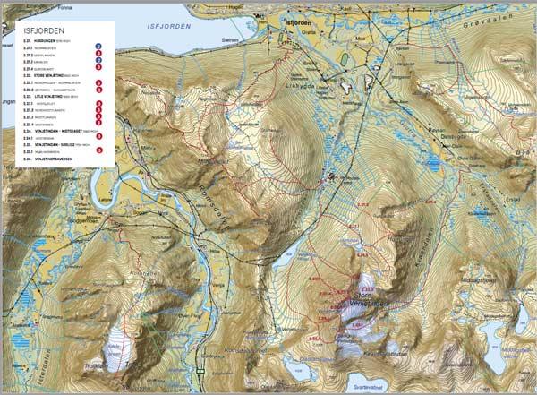 Kartutsnitt fra boken Toppturer i Romsdalen