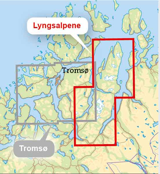 Coverage of Lyngsalpene map