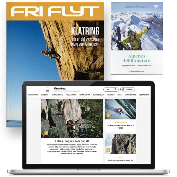 Klatring abonnement og boka Alpenes 4000 metere