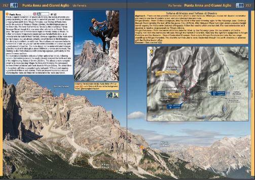 Klatrefører Dolomites - Rock Climbs and Via Ferrata - Oppslag 3