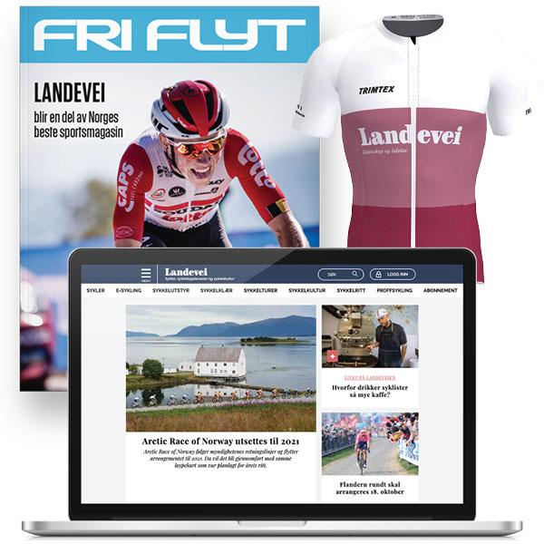 Landevei-abonnement og Vitric sykkeltrøye