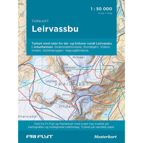 Leirvassbu - Nye turkart fra Fri Flyt og Mesterkart
