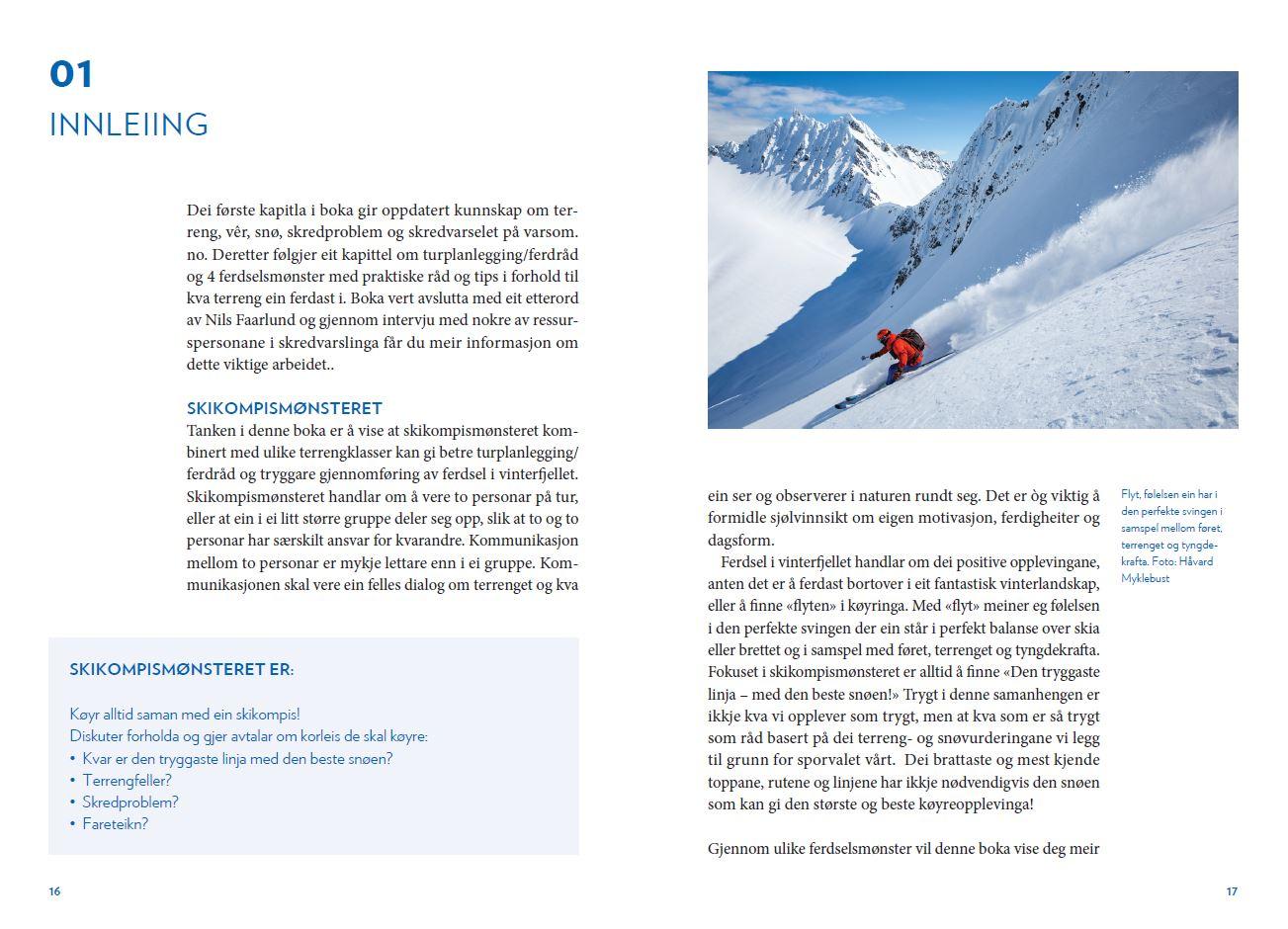 Skikompis - Snøskred og trygg ferdsel - Oppslag 2