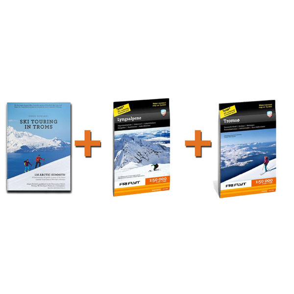 Tromsø pack in english: Two maps and english guidebook