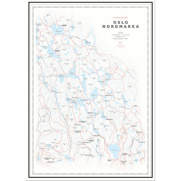 Sykkelkart Nordmarka (50x70 cm)