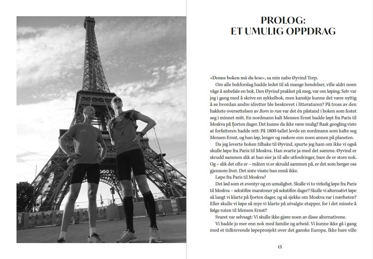 Øyvind Torp og Geir Stian Ulstein foran Eiffeltårnet før turen begynner