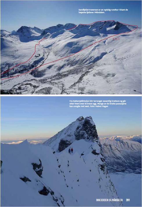 Oppslag fra boken Toppturer i Romsdalen