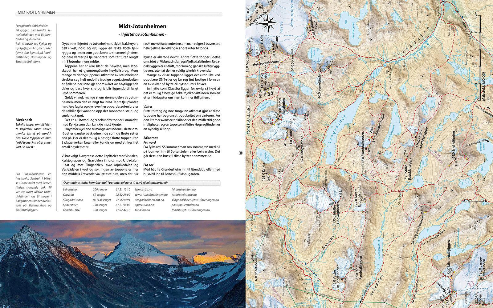 Norges Fjelltopper over 2000 meter - Utdrag