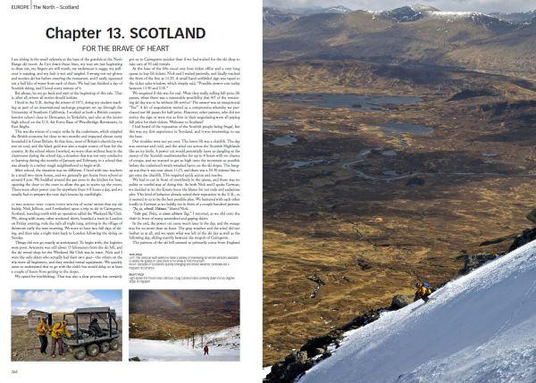 Skikjøring Skottland. Oppslag fra Skiing Around the world