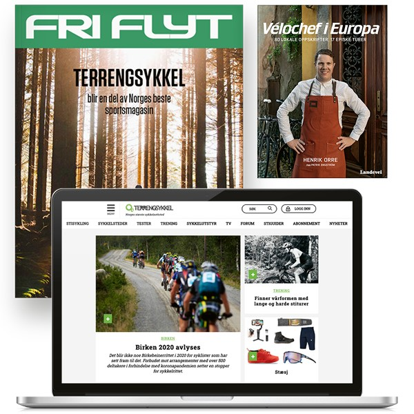 Terrengsykkel-abonnement pluss boka Velochef i Europa