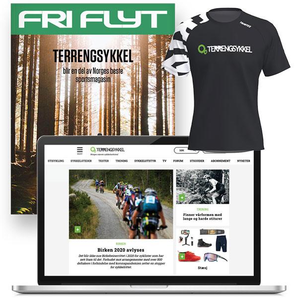 Terrengsykkel Free T trøye Trimtex
