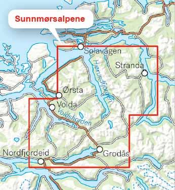 Sunnmørsalpene - omfang av kartet