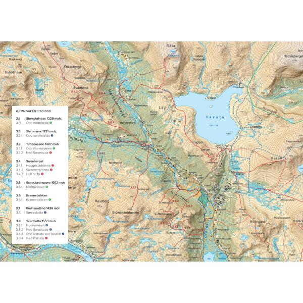 Toppturer i Hemsedal oppslag med kart