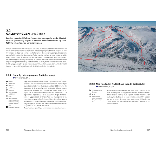 Topptur Jotunheimen eksempel på ruteinntegning