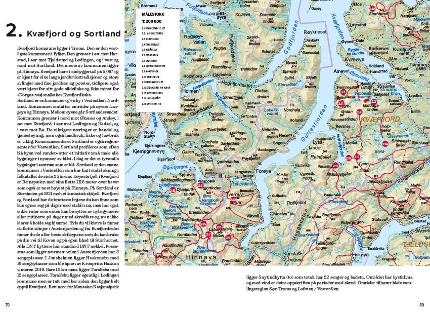 I boka Toppturer rundt Harstad finner du gode oversikts og detaljkart.