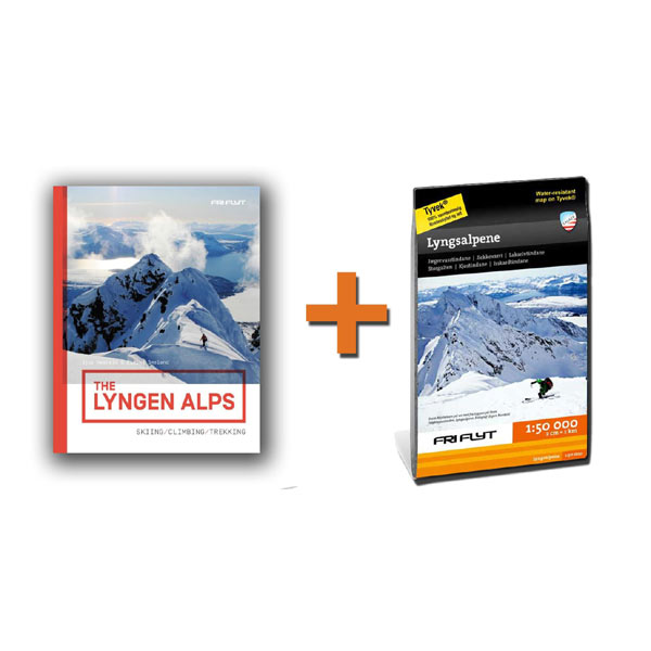 The Lyngen Alps + Lyngsalpene 1:50.000 kart