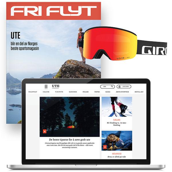 UTE og Giro Axis alpinbrille