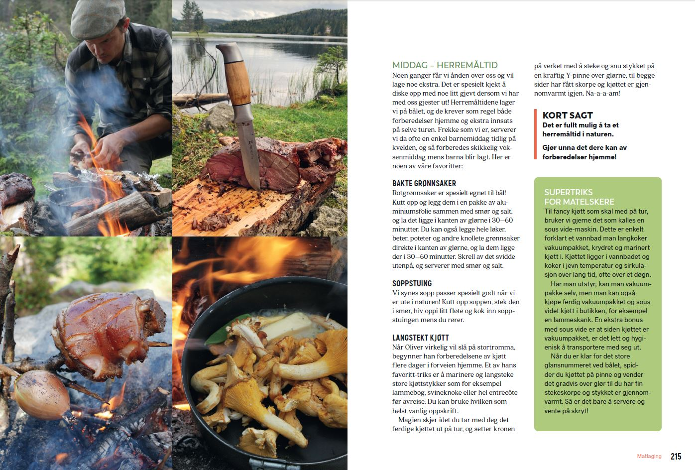 Utenetter har mange gode tips til matlaging på teltur