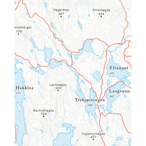 Utsnitt Hakkloa sykkelkart Nordmarka