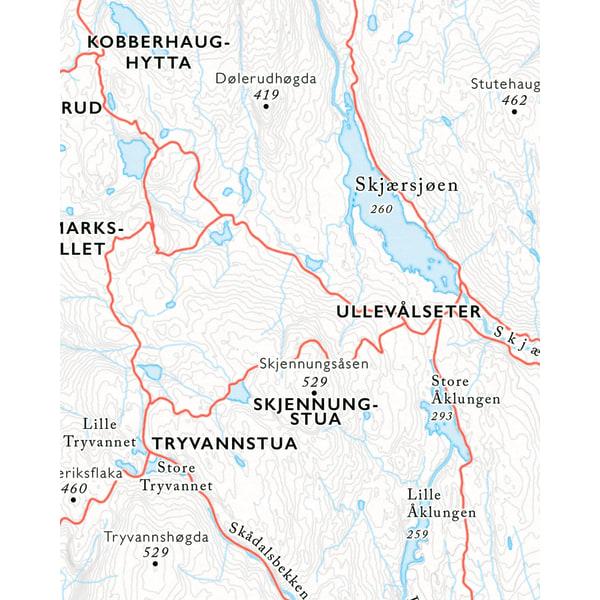 Utsnitt Ullvålseter sykkelkart Nordmarka