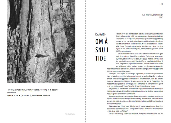 På død og liv - Norsk fjellredning fra innsiden - Oppslag 2