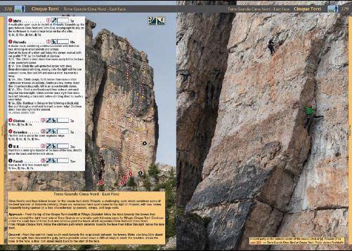 Klatrefører Dolomites - Rock Climbs and Via Ferrata - Oppslag 2