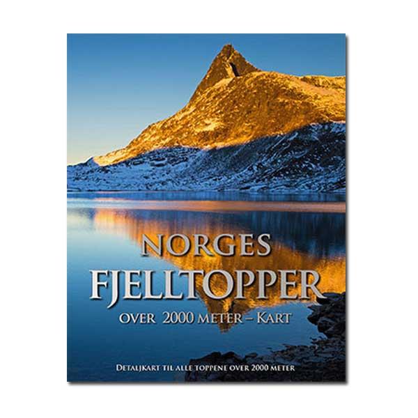 Norges fjelltopper over 2000 meter - Kartpakke