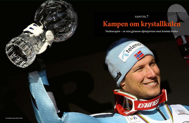 Aksel Lund Svindal. Bildet er fra alpinboken Født med slalåmski på beina